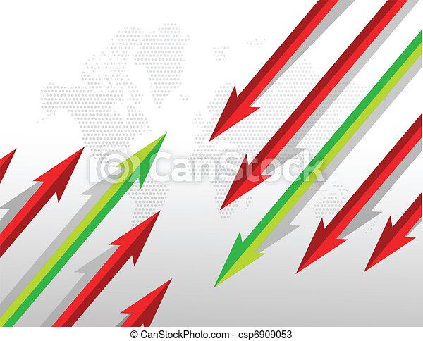 Arrows going in opposite directions - csp6909053