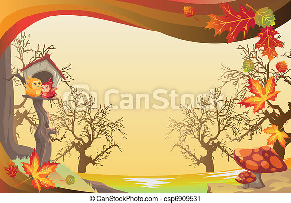 Autumn or Fall season background - csp6909531