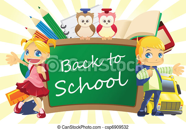 Back to school background - csp6909532