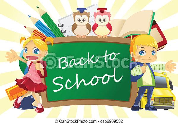 Back to school background - csp6909532