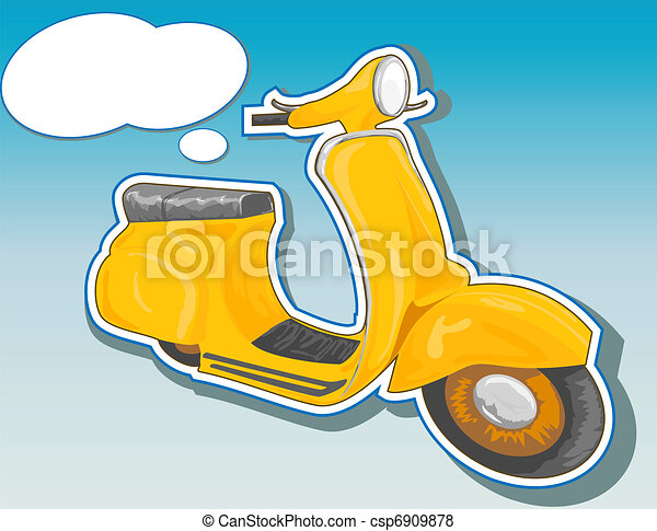 Beautiful  scooter. - csp6909878