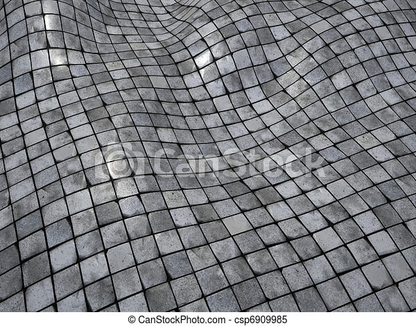 Stock Illustrations Of 3d Render Wobble Mosaic Tile Floor