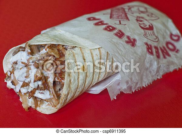 Turkish durum kebab - csp6911395