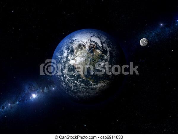 Earth Moon North America - csp6911630