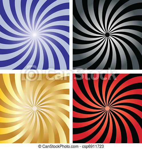 Twirl sunburst backgrounds - csp6911723