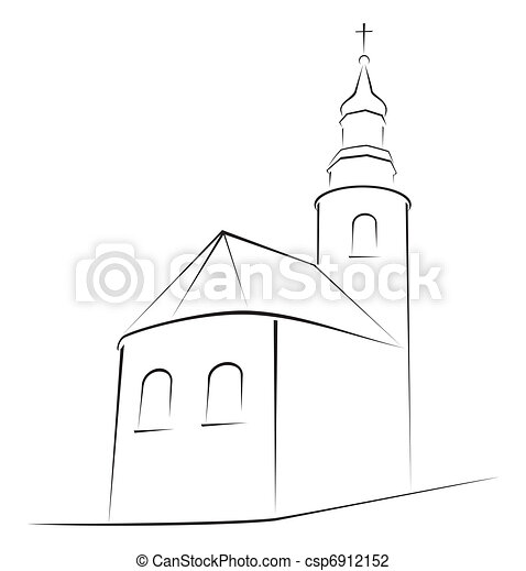 Church symbol - csp6912152