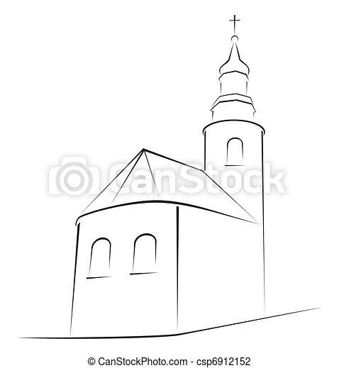 Church symbol - csp6912152