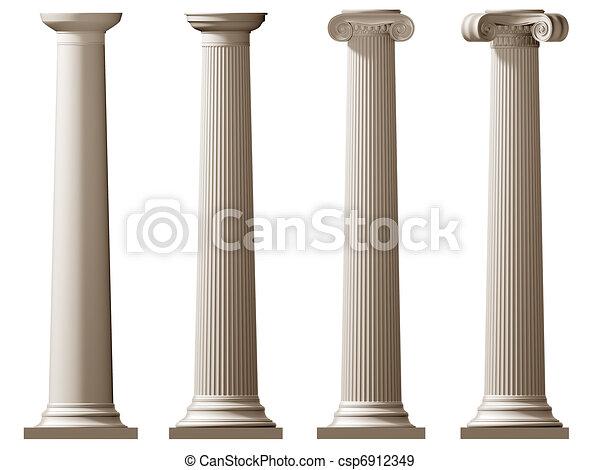 Roman Doric and Ionic columns - csp6912349