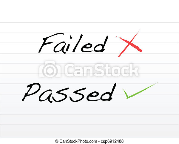 Failed and passed written - csp6912488