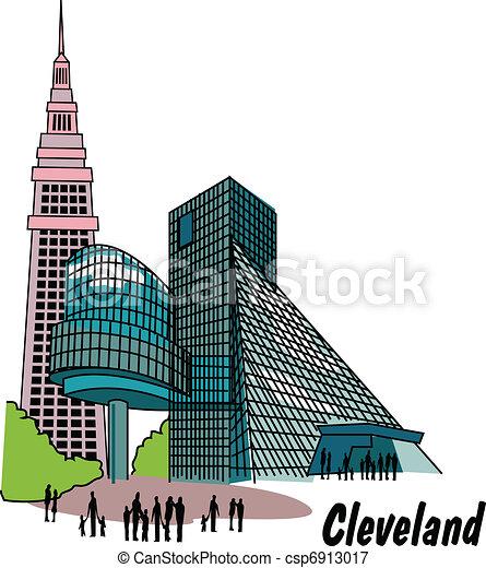 Cleveland Ohio Clip Art - csp6913017