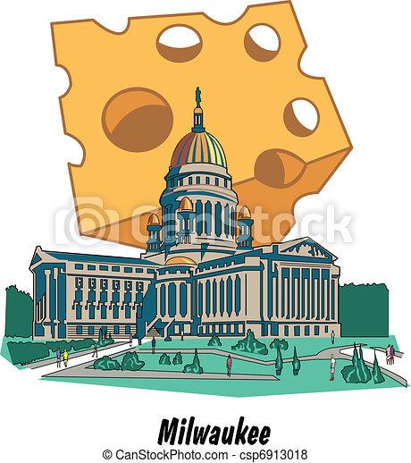 Milwaukee Wisconsin Capitol Cheese - csp6913018