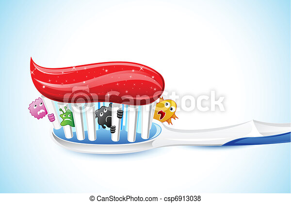 Germs in Tooth Brush - csp6913038
