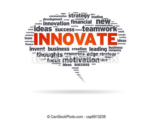 Speech Bubble - Innovate - csp6913238