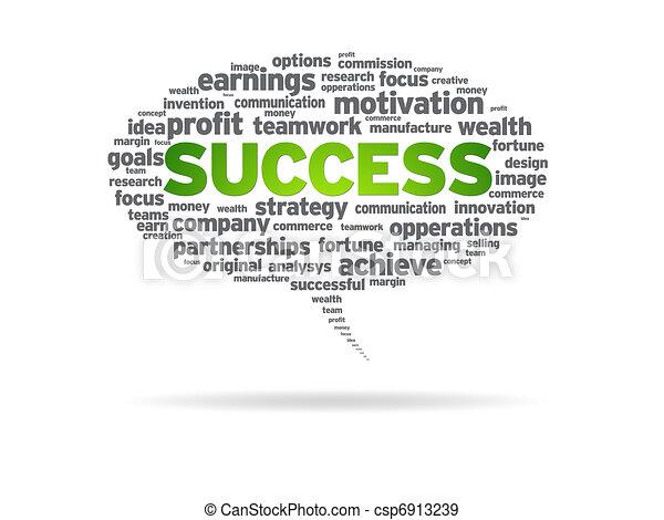 Speech Bubble - Success - csp6913239