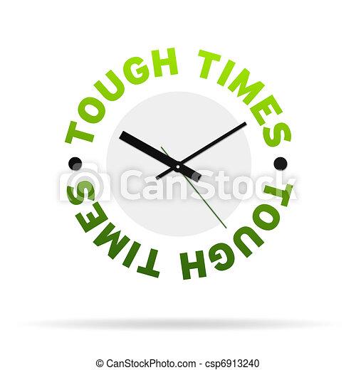 Tough Times Clock - csp6913240
