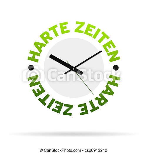 Tough Times Clock - csp6913242
