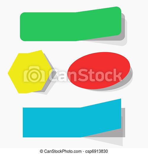 Blank advertising coupons set - csp6913830