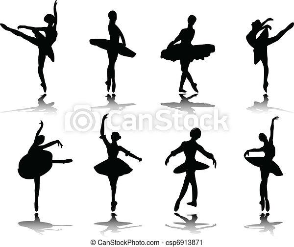 ballerinas with reflection - csp6913871