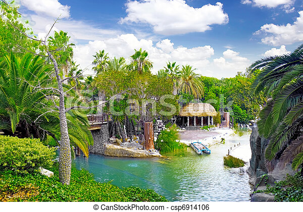 Lagoon in French Polynesia. - csp6914106