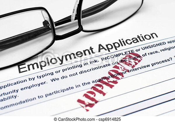 Employment application  - csp6914825