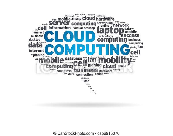 Speech Bubble - Cloud Computing - csp6915070