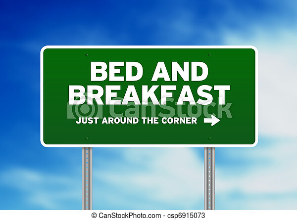 Bed & Breakfast Road Sign - csp6915073