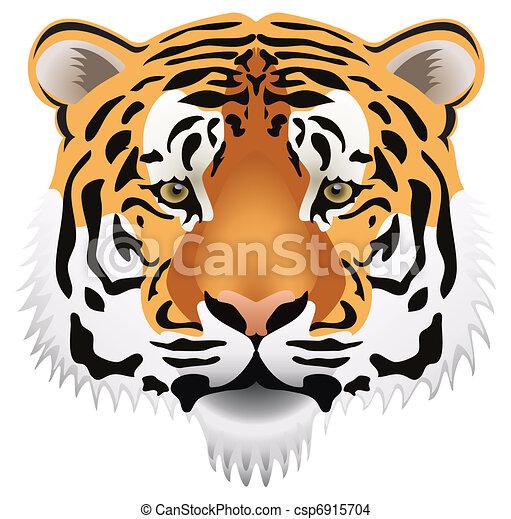 Vecteur eps de tigre t te vecteur tigre t te csp6915704 recherchez des images graphiques - Tete de tigre dessin facile ...