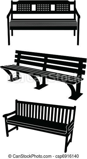 Clipart vecteur de silhouette banc banc silhouette - Fotos de bancos para sentarse ...