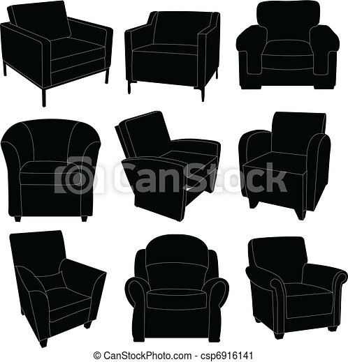 Armchairs collection - csp6916141
