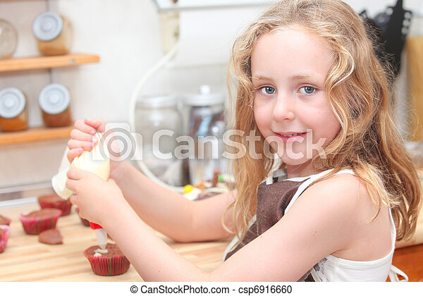 kid baking or cooking - csp6916660
