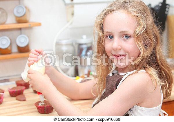 kid baking or cooking - csp6916660