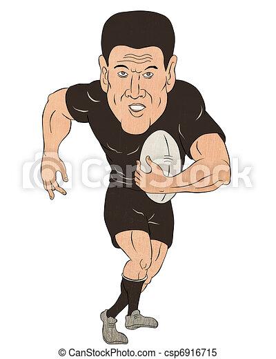 Illustrations de joueur courant balle rugby dessin anim illustration csp6916715 - Dessin de joueur de rugby ...