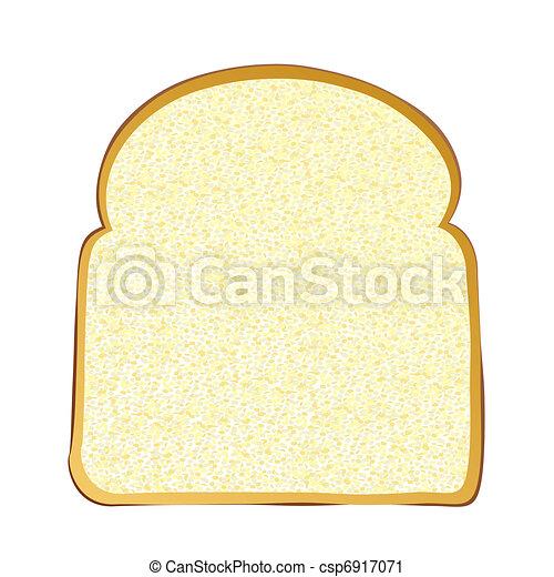 Bread Slice Drawing Slice of White Bread