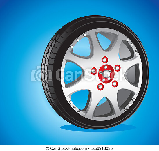 automotive wheel with alloy wheels and low profile tires  - csp6918035