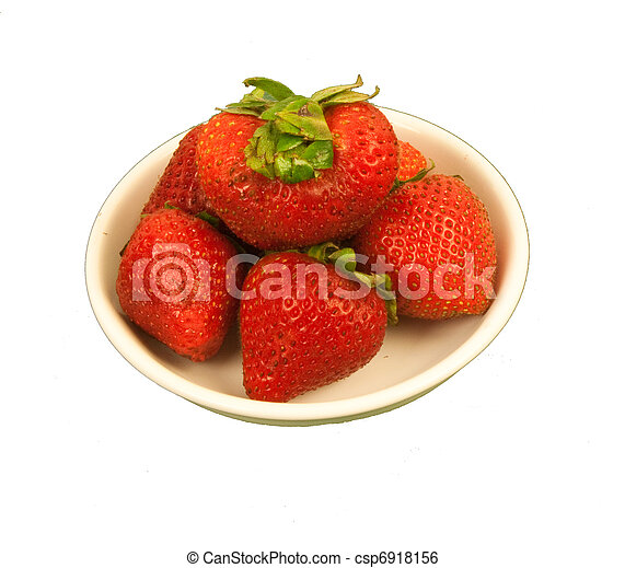 Saucer of Strawberries - csp6918156
