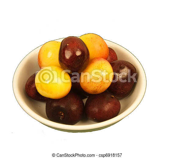 Two kinds of Cherries in a bowl - csp6918157