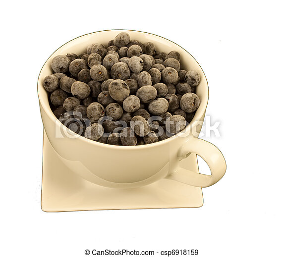 Blueberries in a round cup - csp6918159