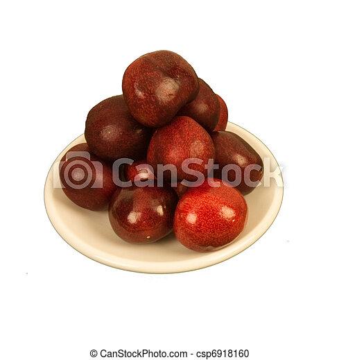 Cherries on a circular plate - csp6918160