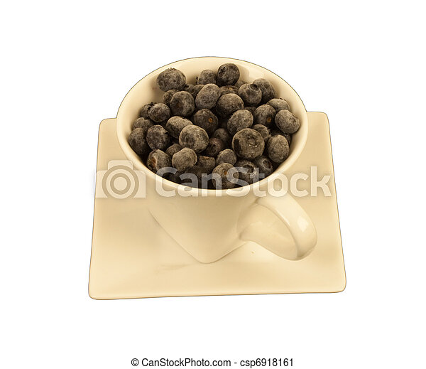 Blueberries in a square cup - csp6918161