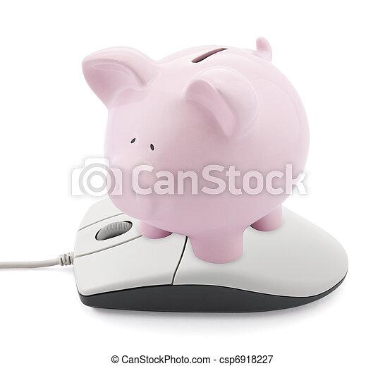 bancario, linea - csp6918227