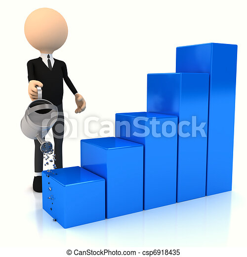 3d abstract chart for company presentation - csp6918435