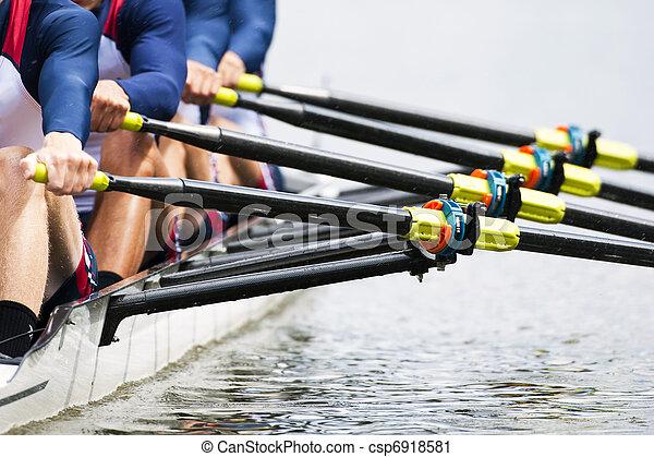 Close up of men's rowing team - csp6918581