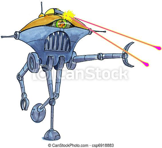 Alien Robot Drawings Alien Robot Csp6918883
