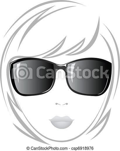 The girl in black glasses - csp6918976