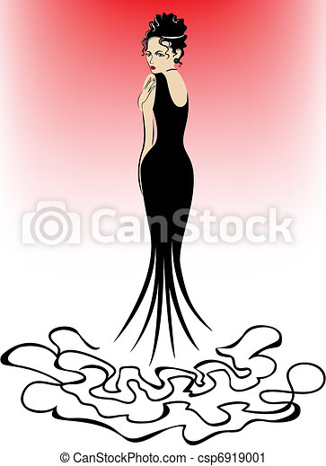 woman on a pink background - csp6919001