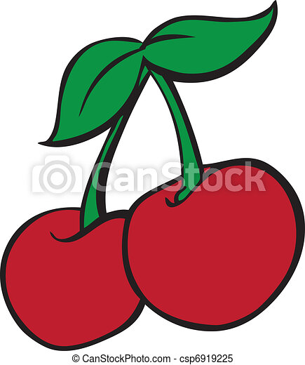 Vecteur clipart de machine style casino cerises vector illustration de csp6919225 - Dessin cerise ...