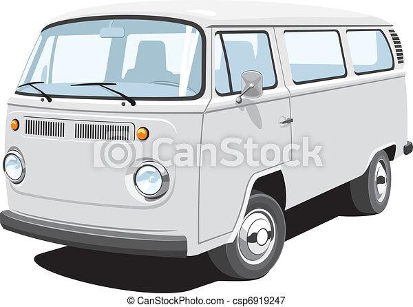 Passenger and cargo van - csp6919247