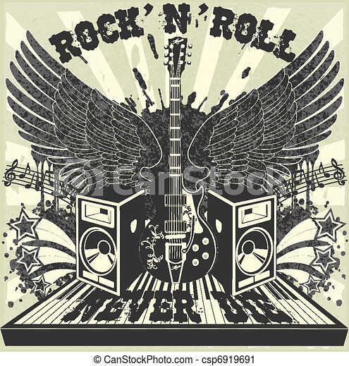 Rock n Roll never die - csp6919691