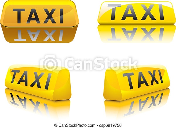 Taxi Sign - csp6919758