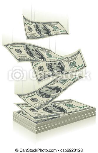 money falling - csp6920123